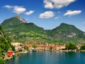 picture of italian alps  - the city of Riva del Garda - JPG