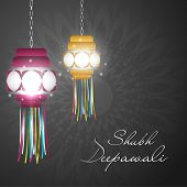 picture of deepavali  - Hanging lamp for Diwali festival in India - JPG