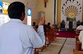 Indian Christian Praying