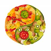 Yin-yang Of Fruits And Vegetables