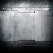 picture of ironworker  - iron plate background - JPG