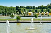 Swan Ponds In Herrenhausen Gardens, Hanover, Germany