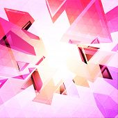 foto of triangular pyramids  - Triangles vector background - JPG