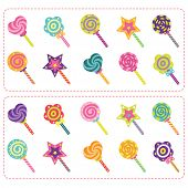 Sweets Candy and Lollipop set