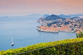 View on old town of Dubrovnik, Croatia. Balkans, Adriatic sea, Europe. Beauty world.