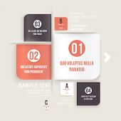 Modern design infographic template. Numbered banners. Minimal style design for business graphic. Pap