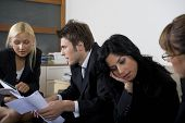 Businessman and businesswomen having a meeting.
