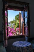 Beautiful view from famous a Bodrum House at Bodrum, Turkey.