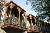 A historical house at Old City (Iceri Seher) in Baku, Azerbaijan in a Summer day.