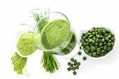 stock photo of chlorella  - Natural superfood - JPG
