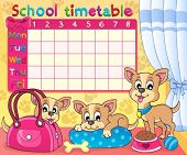 School timetable thematic image 5 - eps10 vector illustration.