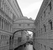 Bridge Of Sighs In Venice With Gondolas And The Ancient Palaces 5
