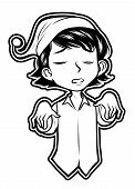 black and white clipart sleep walking