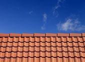 Roof Tiles Against Blue Sky