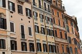 Old roman houses by Spanish steps in Rome