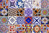 Close Up Traditional Lisbon Ceramic Tiles