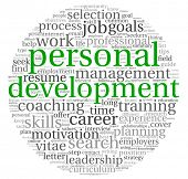 picture of self assessment  - Personal development and career concept in word tag cloud on white - JPG