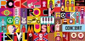 Cartel concierto de rock