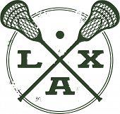 Sello de estilo Vintage LAX lacrosse