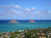 The Mokulua Islands And Lanikai Beach