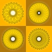 abstract pattern, created by the rotation of geometric body