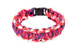 pic of paracord  - Paracord survival Bracelet using a Cobra weave in Candystriped colored cord - JPG