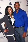 Karla Mosley and Lawrence Saint-Victor at the Daytime Emmy Nominees Reception presented by ATAS, Montage Beverly Hills, CA 06-13-13