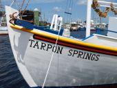 Tarpon Spring sponge docks boat bow