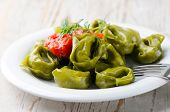 Italian Healthy  Food - Green Spinach Tortellini