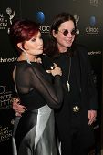 Sharon Osbourne and Ozzy Osbourne at the 40th Annual Daytime Emmy Awards, Beverly Hilton Hotel, Beve