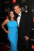 Mehmet Oz and wife Lisa at the 40th Annual Daytime Emmy Awards, Beverly Hilton Hotel, Beverly Hills,