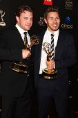 Billy Miller, Scott Clifton in the 40th Annual Daytime Emmy Awards Press Room, Beverly Hilton, Bever