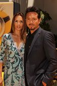 Talisa Soto and Benjamin Bratt at the