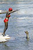 Swimmer Statue