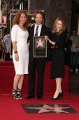 Jerry Bruckheimer with wife and daughter at the Jerry Bruckheimer Star on the Hollywood Walk of Fame