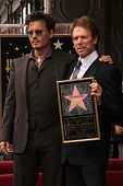 Johnny Depp and Jerry Bruckheimer at the Jerry Bruckheimer Star on the Hollywood Walk of Fame ceremo