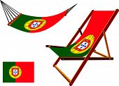 Portugal Hammock And Deck Chair Set