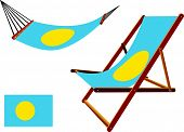 Palau Hammock And Deck Chair Set