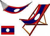 Laos Hammock And Deck Chair Set