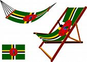 Dominica Hammock And Deck Chair Set