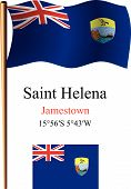 Saint Helena Wavy Flag And Coordinates