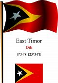 East Timor Wavy Flag And Coordinates
