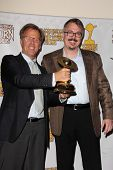 Mark Johnson and Vince Gilligan at the 39th Annual Saturn Awards Press Room, The Castaway, Burbank, CA 06-26-13