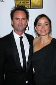 Walton Goggins and wife Nadia Conners at the 3rd Annual Critics' Choice Television Awards, Beverly H