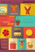 picture of tiki  - Hawaii Surf Retro Labels Collection in Flat Design Style - JPG