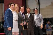 RJ Mitte, Anna Gunn, Bryan Cranston, Aaron Paul and Bob Odenkirk at the Bryan Cranston Star on the H