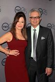 Mary McDonnell, Tony Denison at the TNT 25th Anniversary Party, Beverly Hilton Hotel, Beverly Hills,