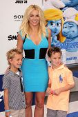 Britney Spears, Sean Preston Federline and Jayden James Federline at the