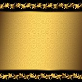Big vintage golden frame (vector)