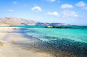 Elafonisi beach on island of Crete, Greece